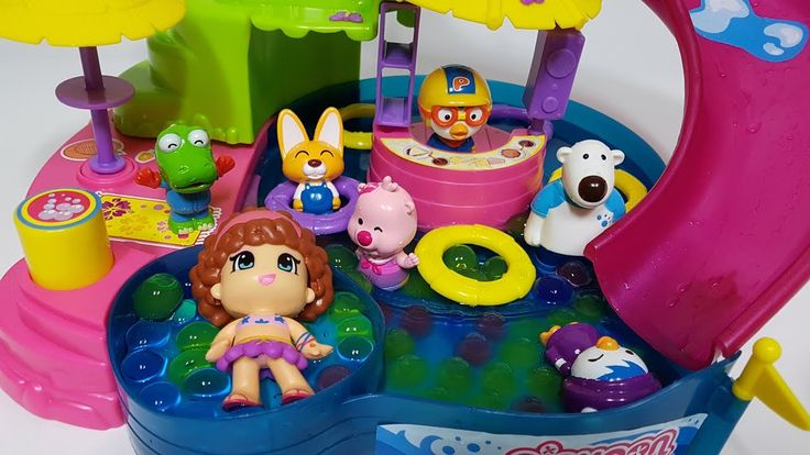 Learn Colors Pororo and Pinypon Aqua Park Orbeez Crush