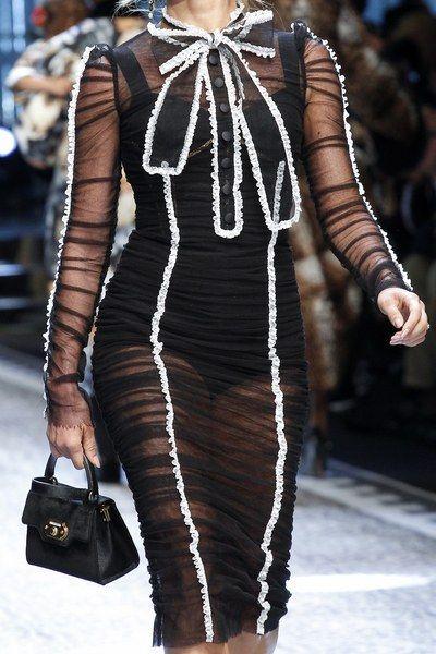 Grazielli Massafera for Dolce & Gabbana Fall 2017 Ready-to-Wear collection.