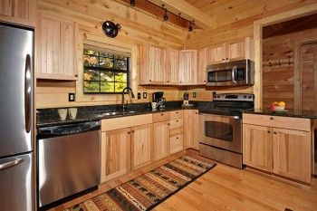 Heavenly View Hickory Cabinets Stainless Steel
