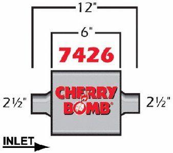 Cherry Bomb 7426 Extreme Muffler - http://www.performancecarautoparts.com/cherry-bomb-7426-extreme-muffler/