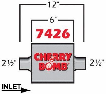 Cherry Bomb 7426. I have this one in my 3.4L v6