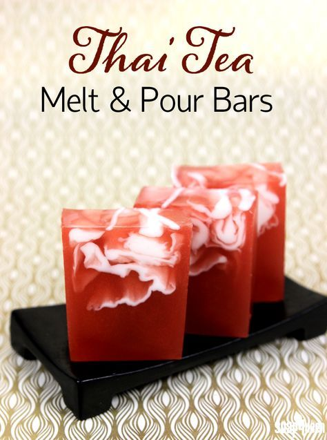 Thai Tea Melt and Pour Bars Tutorial