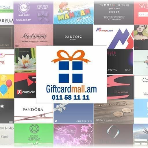 Giftcardmall.am sells more than 200 companies' giftcards online. You can give gift cards to your relatives for any occasion. We offer delivery across all Armenia.
