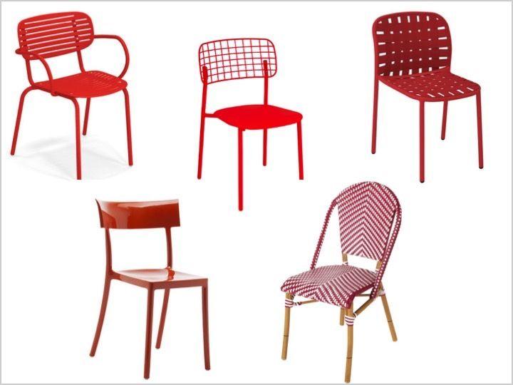 la chaise rouge design et retro le