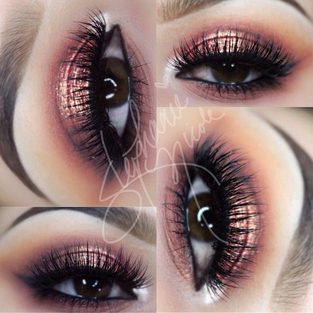 Today's eyes. Pictures do this makeup no justice! Thinking of recreating it tomorrow to get better pics. -Brows: @anastasiabeverlyhills brow powder in chocolate -Crease: @makeupgeektv Peach Smoothie, Creme Brule, Cocoa Bear and Bitten -Outer V: Bitten