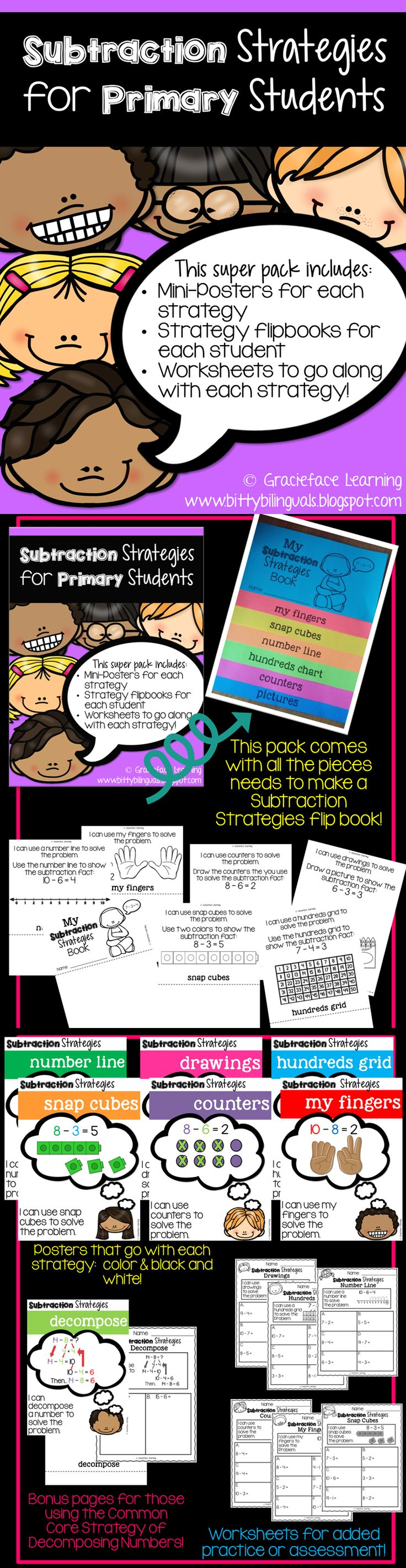 best 25 subtraction strategies ideas on pinterest subtraction