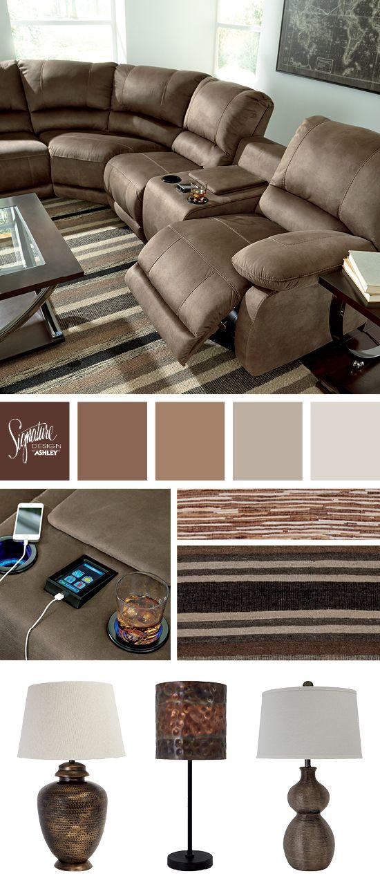 Seamus Reclining Sofa Sectional - Power Recline - Living Room Furniture  - Ashley Furniture