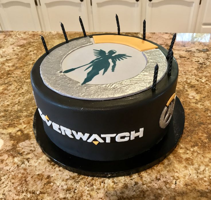 Custom made Mercy Overwatch cake for my favorite daughter