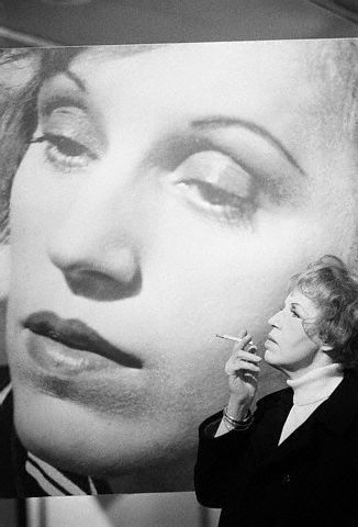 Lotte Lenya.  What an honor to have met and worked with her.  And man, could she smoke.