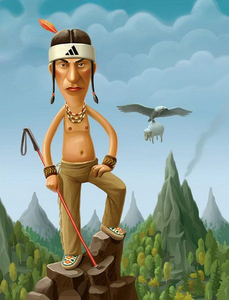 прикольные картинки индейцев плотного