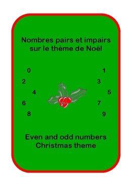 Pair Et Impair En Anglais : impair, anglais, Numbers, Christmas, Nombres, Pairs, Impairs, Noël, Numbers,