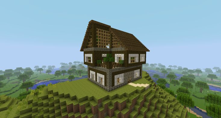 Minecraft wooden house google search minecraft for Home designs minecraft