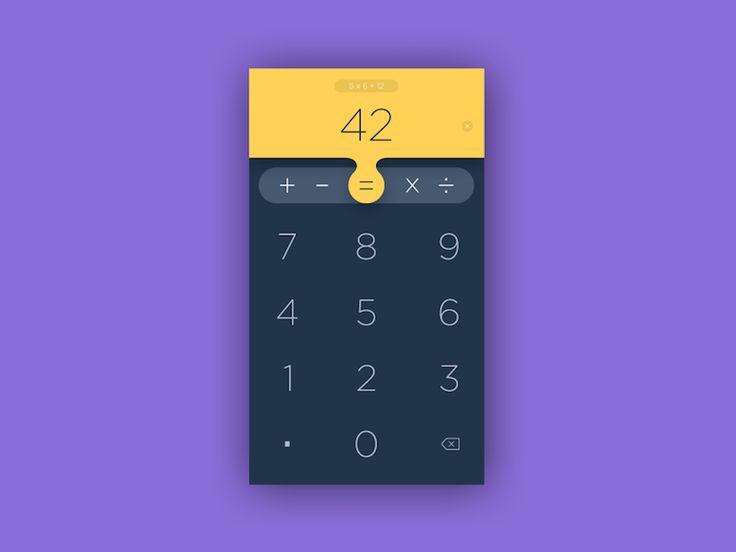 Calculator App  Design MaterialUp