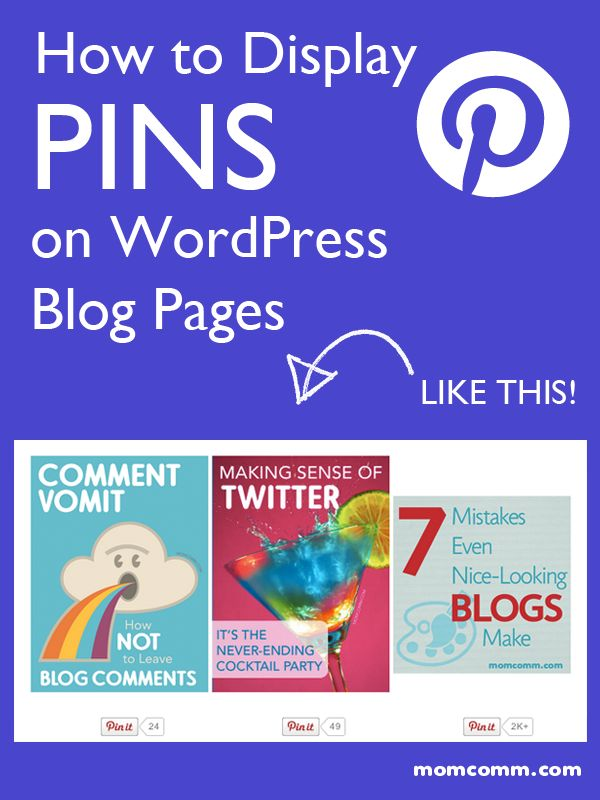 How to Display Pins on Blog Pages in WordPress (& Add Them to Your Sidebar Too!) from Blog Clarity