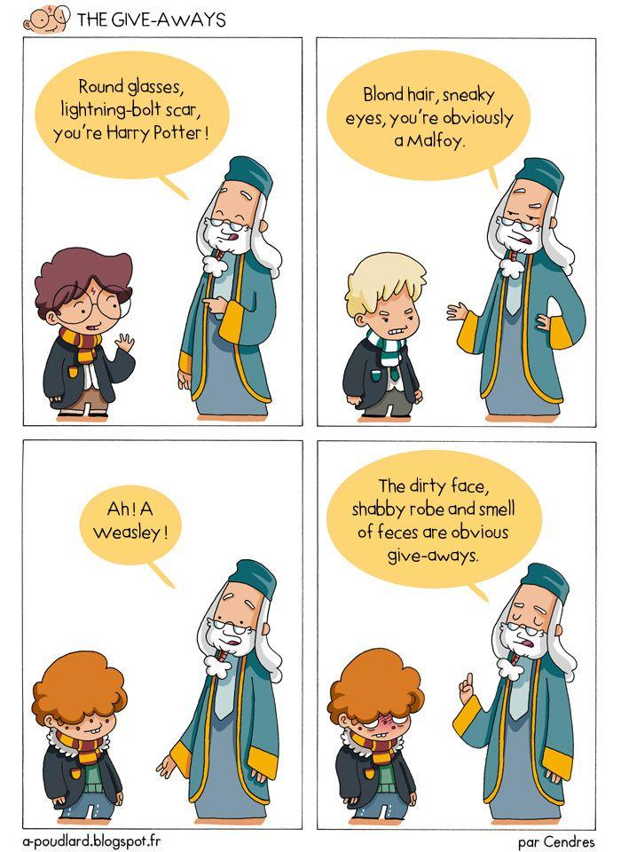 """Le blog BD: """"à Poudlard"""" raconte la vie d'Harry Potter et de ses amis en quelques cases humoristiques."""