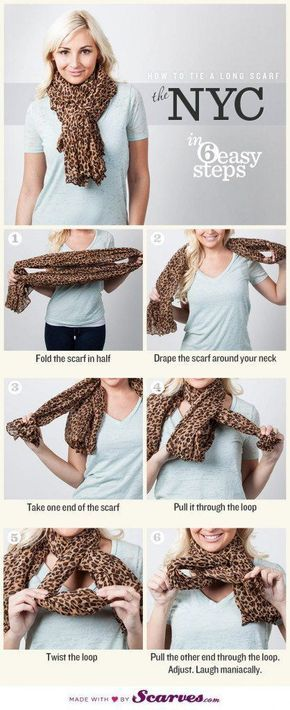Long scarves are gorgeous and fun to wear, but they can be a little obnoxious if not tied properly. They can drag on the ground, be too tightly wrapped around your neck, or have extra fabric just hanging out. However, with a few twists and turns, a long scarf can create some adorable ties for fall. Here are a couple ways to tie a longer scarf. #longscarf #howtotieascarf #scarfoutfitideas