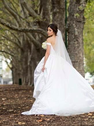 Custom Sibilla gown by Mariana Hardwick - REAL BRIDE