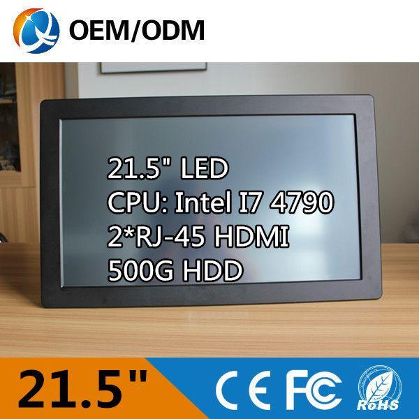 21.5 بوصة الكمبيوتر الكل في واحد الكمبيوتر الصناعية لوحة كمبيوتر i7 cpu 3.6 جيجا هرتز قرار 1920x1080 مقاوم اللمس الشاشة