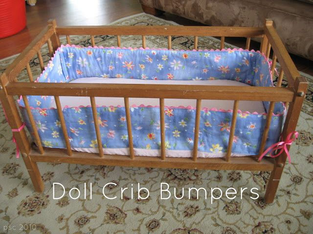Pickup Some Creativity: Doll Crib Bumpers Tutorial