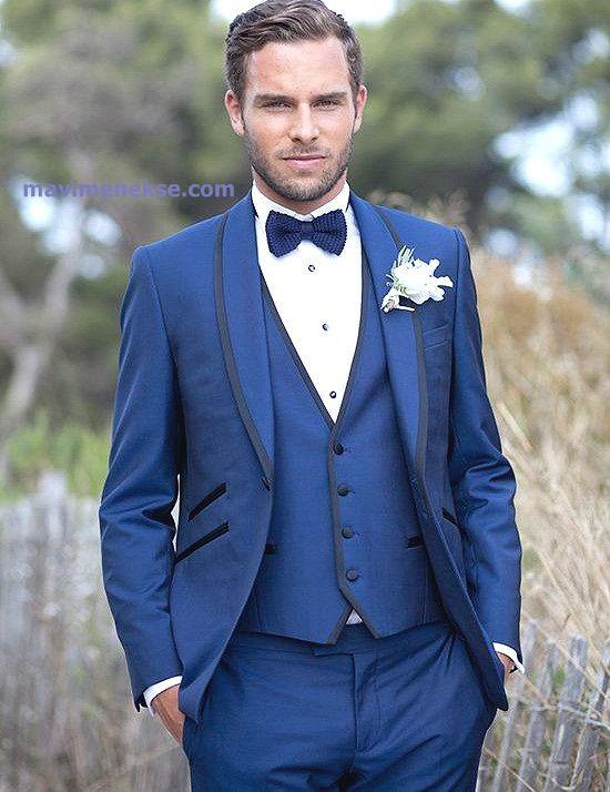 Custom Made New Arrival Groom Tuxedos Shawl Lapel Men S Suit Royal Blue Groomsman Best Man Wedding Suits Jacket Pants Tie Vest