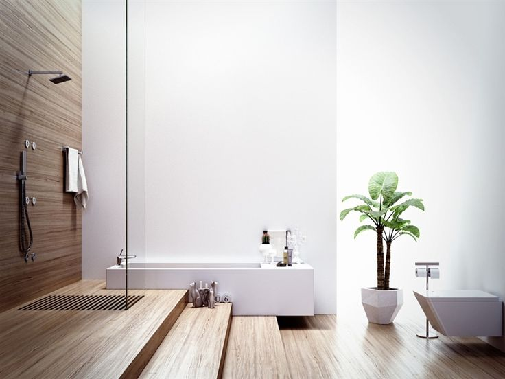 Modern Bathroom With Wood Elements Part 57
