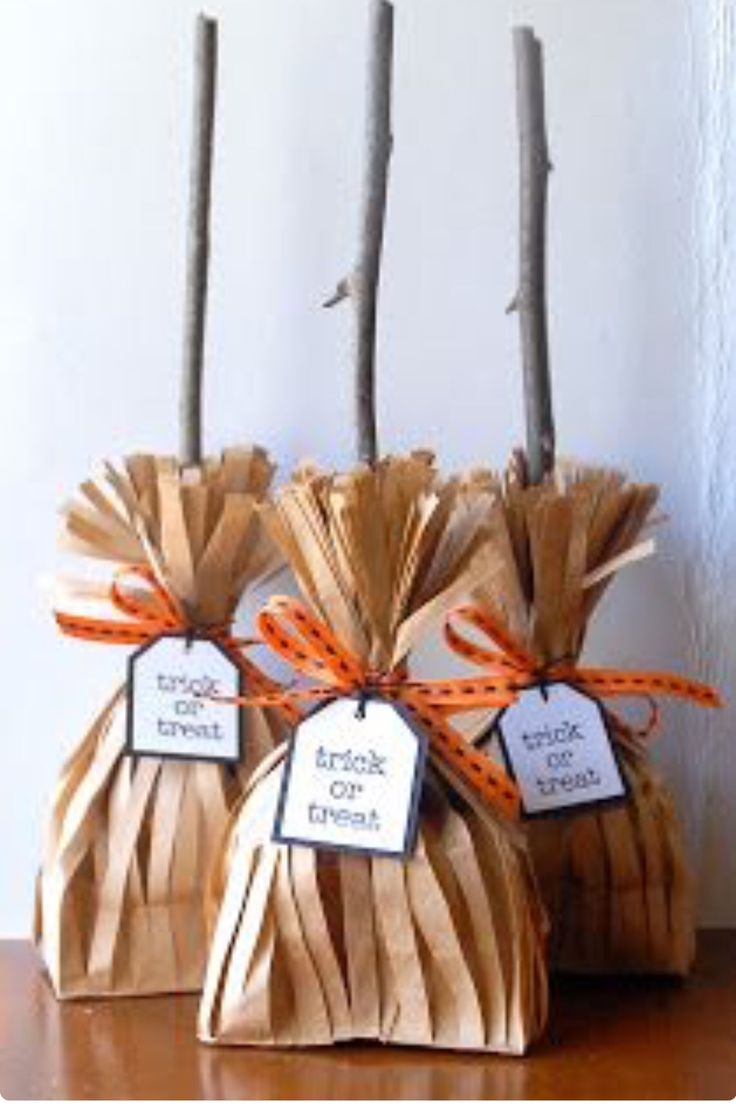 Cute treat bags, witch broom