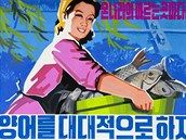 Pestrobarevné plakáty jsou nedílnou součástí severokorejské propagandy. Některé hrozí americkým imperialistům raketovým úderem, jiné vyzývají k lepší produkci obilí. A expertům také pomáhají sledovat měnící se politickou linii totalitního státu.