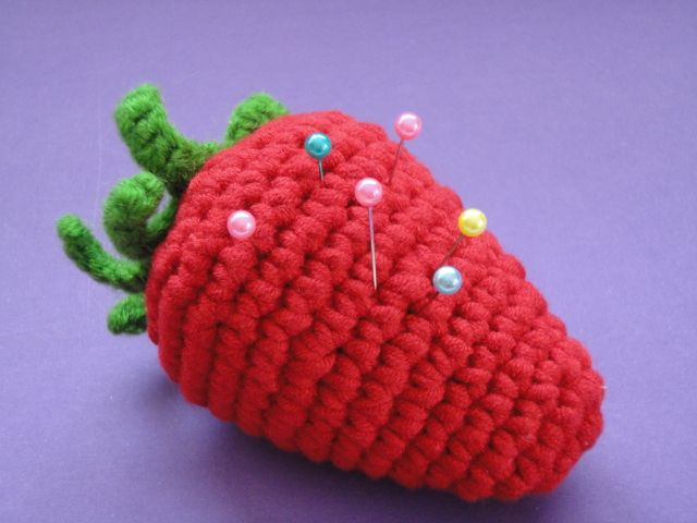 strawberries,pin cushion...
