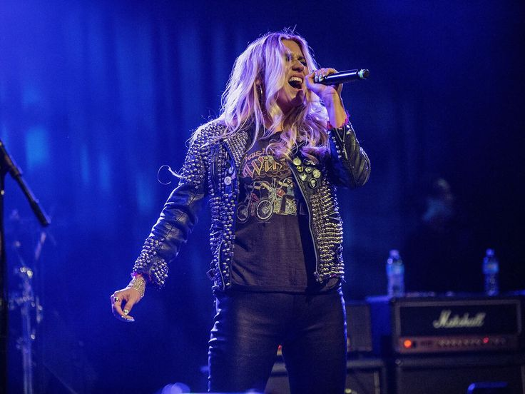 Kei$ha belts it out at the benefit concert and live auction for Rhonda's Kiss at El Rey Theatre, on Tuesday, in Los Angeles.  Harmony Gerber, FilmMagic