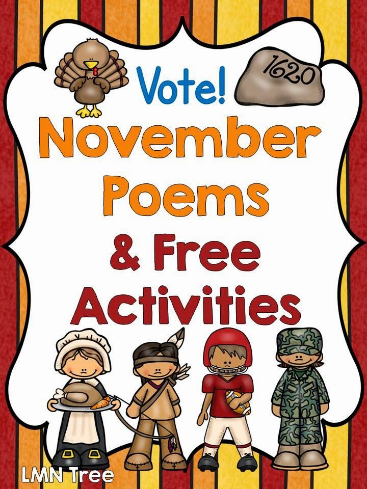 LMN Tree: November Poems and Free Poems and Literacy Activities