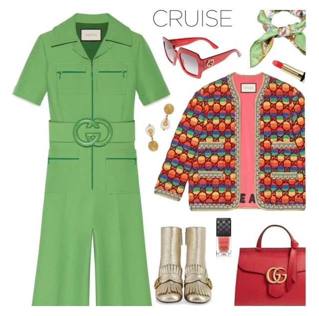 b925c7d42e Gucci Wool Silk Belted Jumpsuit in 2019 | My Polyvore Finds ...