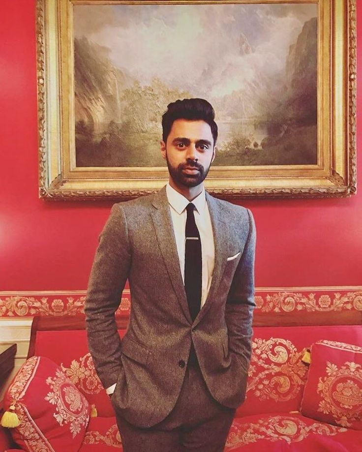 Hasan Minhaj of the Daily Show looks mighty fine with a beard and with that suit.