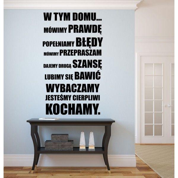 Naklejka NN011S - 50x85cm - W tym domu...