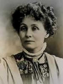 """Emmeline Pankhurst, leader of the British Suffragette movement, was imprisoned, force fed and abused fighting for women's right to vote. """"This was the beginning of a campaign the like of which was never known in England, or for that matter in any other country. We interrupted a great many meetings and were violently thrown out and insulted. Often we were painfully bruised and hurt."""""""