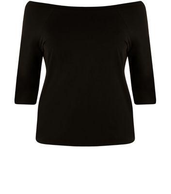 Inspire Black Half Sleeve Top