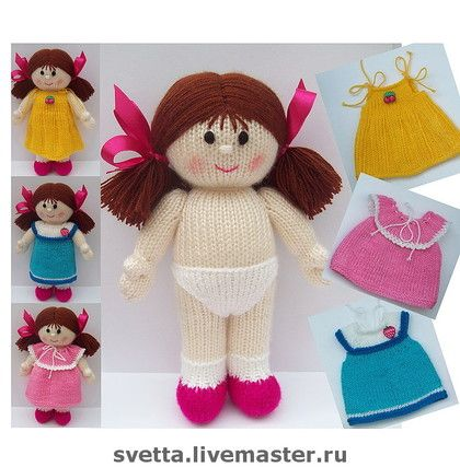 cute knitted #doll + dresses