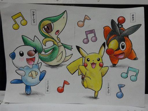 数年ぶりの塗り絵 ポケモンイラスト Pokémonpikachucharacter