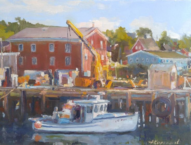 Buy Morning loading in Lunenburg port, (9x12''), Oil painting by Alexander Koltakov on Artfinder. Discover thousands of other original paintings, prints, sculptures and photography from independent artists.