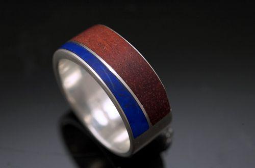Bloodwood and Lapis Lazuli Ring.