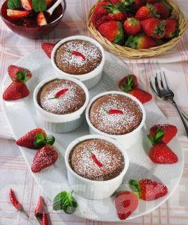 Lajos Mari konyhája - Chilis csokoládé- felfújt eperöntettel