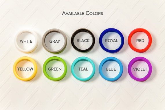 Personalized Silicone Ring Gray Rubber Ring Wedding by KOOBIKrings