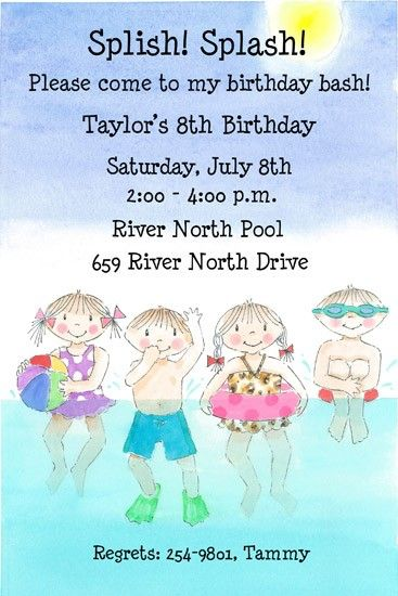 14 best Pool Party Invitations images on Pinterest Pool parties - pool party invitation