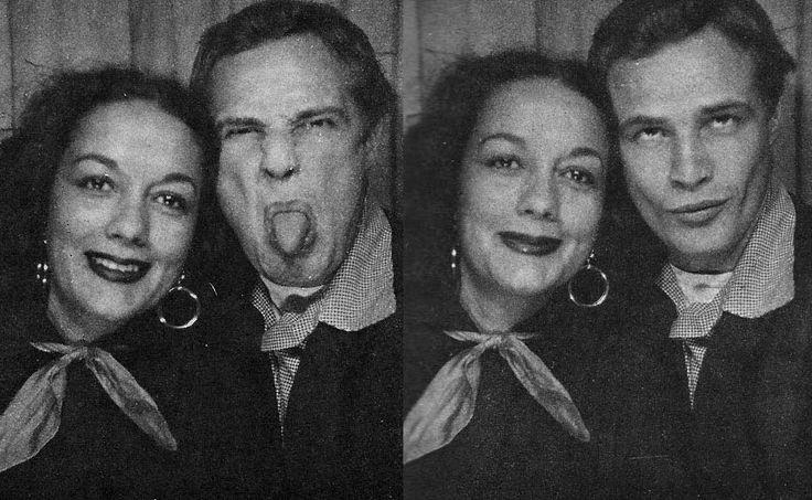 Marlon Brando with his then-wife Movita Castaneda