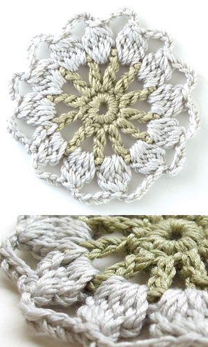 Round crochet motief - free Japanese diagram download
