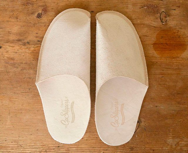 Natural Leather Slipper