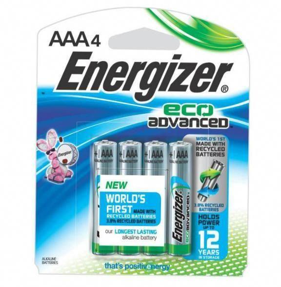 Energizer Xr92bp 4 Ecoadvanced Aaa Alkaline Batteries Pack Of 4 Alkaline Battery Battery Recycling Energizer