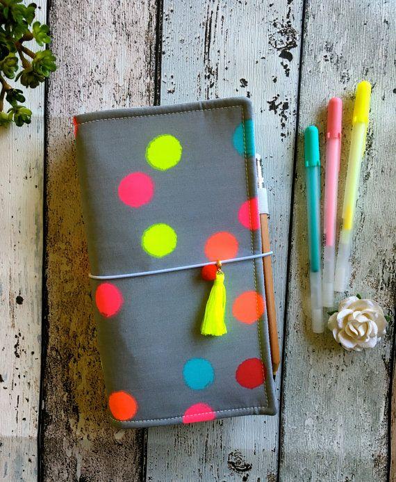 Fabric fauxdori Midori style travellers by MadeByNinnyNoo on Etsy