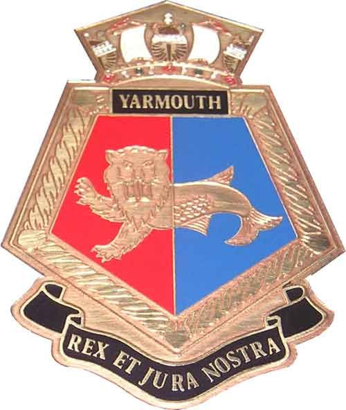 HMS Yarmouth (F101) crest