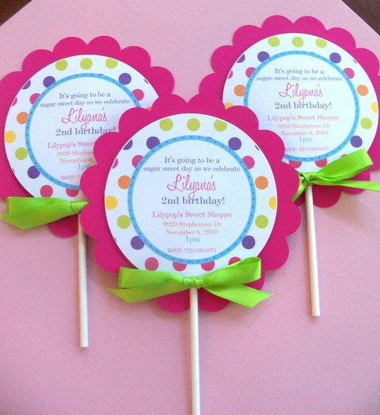 Lollipop Polka Dot Sweet Shoppe Birthday Party by maddieclaire, $34.20