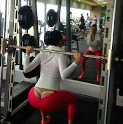 Perfect ass in leggings